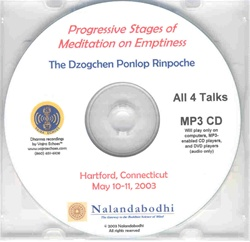 Progressive Stages of Meditation on Emptiness (MP3CD)