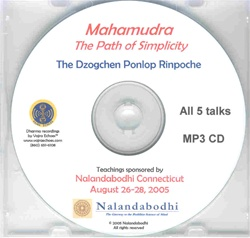 Mahamudra Path of Simplicity (MP3 CD)