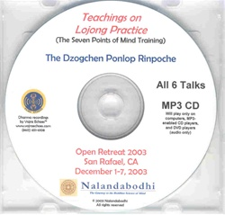 Teachings on Lojong (The Seven Points of Mind Training) (MP3 CD)