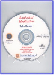 Analytical Meditation (DVD)
