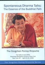 Spontaneous Dharma Talks: The Essence of the Buddhist Path (DVD)