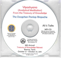 Vipashyana- Analytical Meditation  (MP3CD)