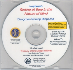 Resting at Ease in the Nature of Mind (MP3CD)