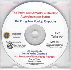 The Paths and Samadhi Cultivation According to the Sutras (MP3 CD)