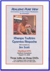 Realizing Pure View: Commentary on Three Songs of Realization by Gotsangpa (DVD)