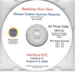 Realizing Pure View: Commentary on Three Songs of Realization by Gotsangpa (MP3CD)