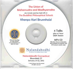 The Union of Mahamudra and Madhyamaka (MP3CD)
