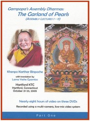Gampopa's Assembly Dharmas: Garland of Pearls (Lectures 1-11) (DVD)