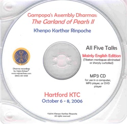 Gampopa's Assembly Dharmas: Garland of Pearls II (Lectures 12-20) (MP3 CD)