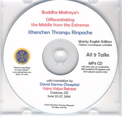 Differentiating the Middle from the Extremes (MP3CD)