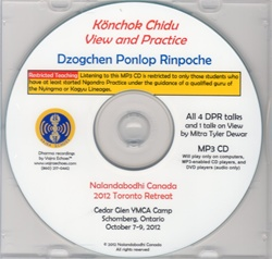 Konchok Chidu View and Practice (MP3CD)