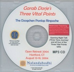 The Three Vital Points of Garab Dorje (MP3CD)
