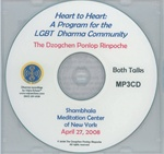 Heart to Heart: A Program for the LGBT Dharma Community (MP3CD)