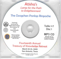 Atisha's Lamp for the Path to Enlightenment (MP3 CD)