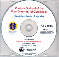 Precious Garland of the Four Dharmas of Gampopa (MP3CD)