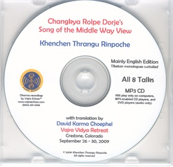 Changkya Rolpe Dorje's Song of the Middle Way View (MP3CD)